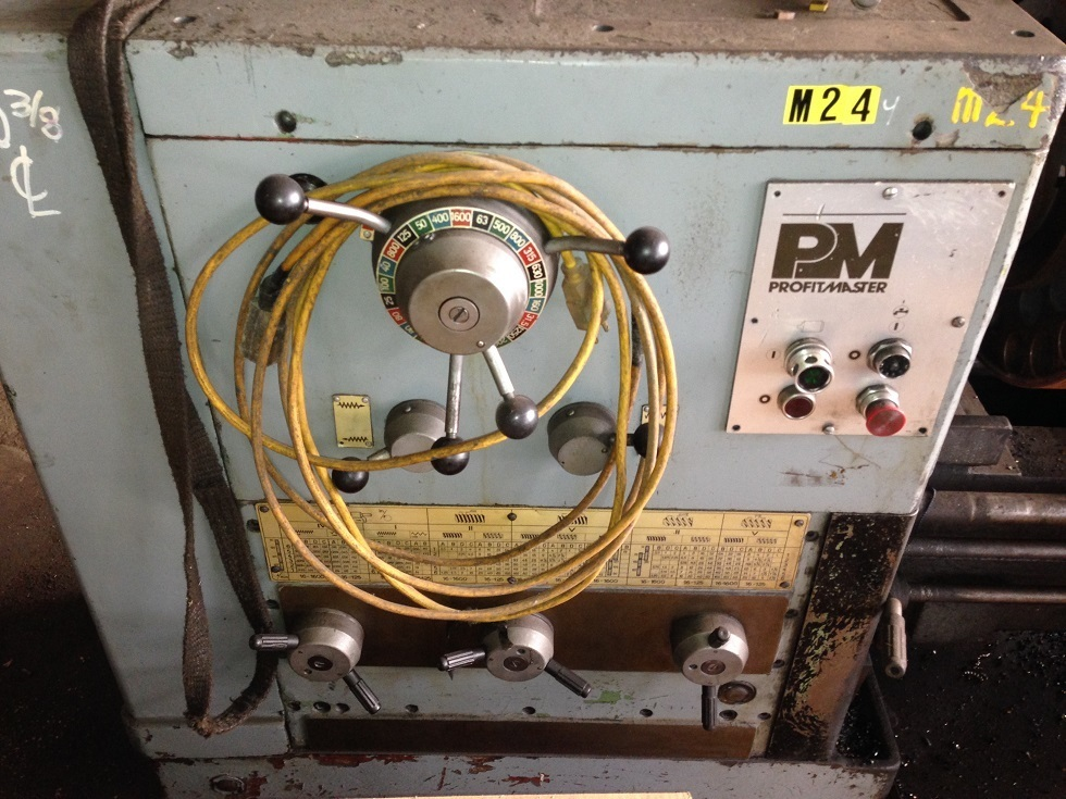 "1 – USED 22""/31"" X 120"" PROFIT MASTER GAP BED ENGINE LATHE"