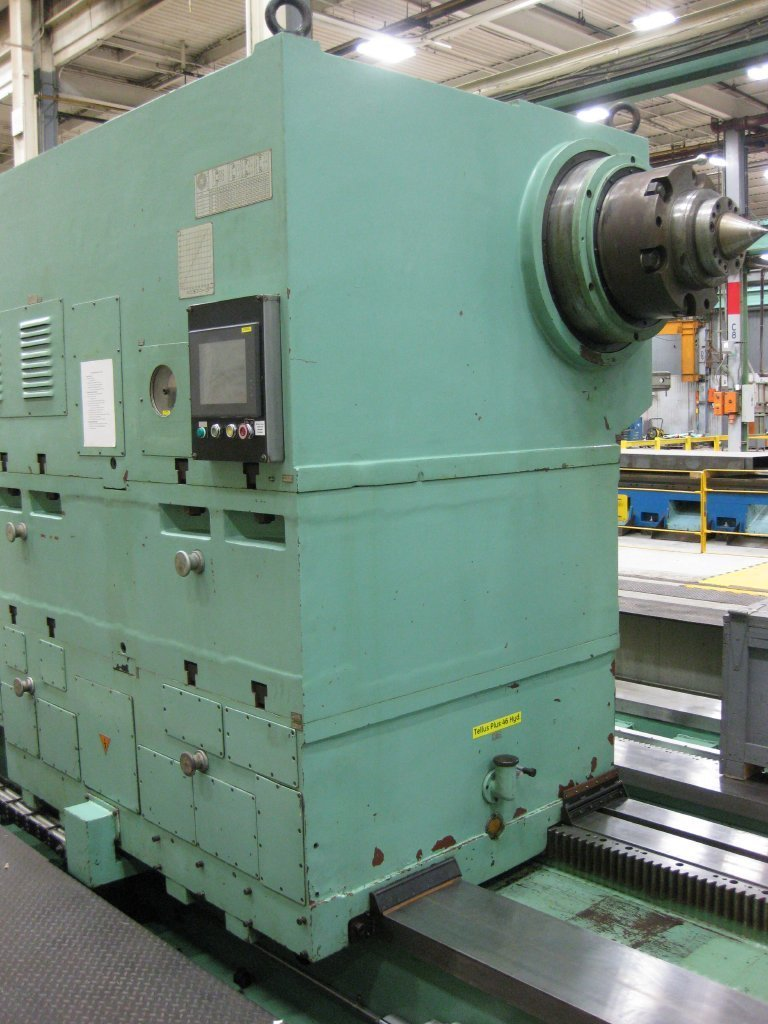 "1 – USED 145"" X 630"" KRAMATORSK HEAVY DUTY CNC LATHE WITH DUAL CARRIAGES"