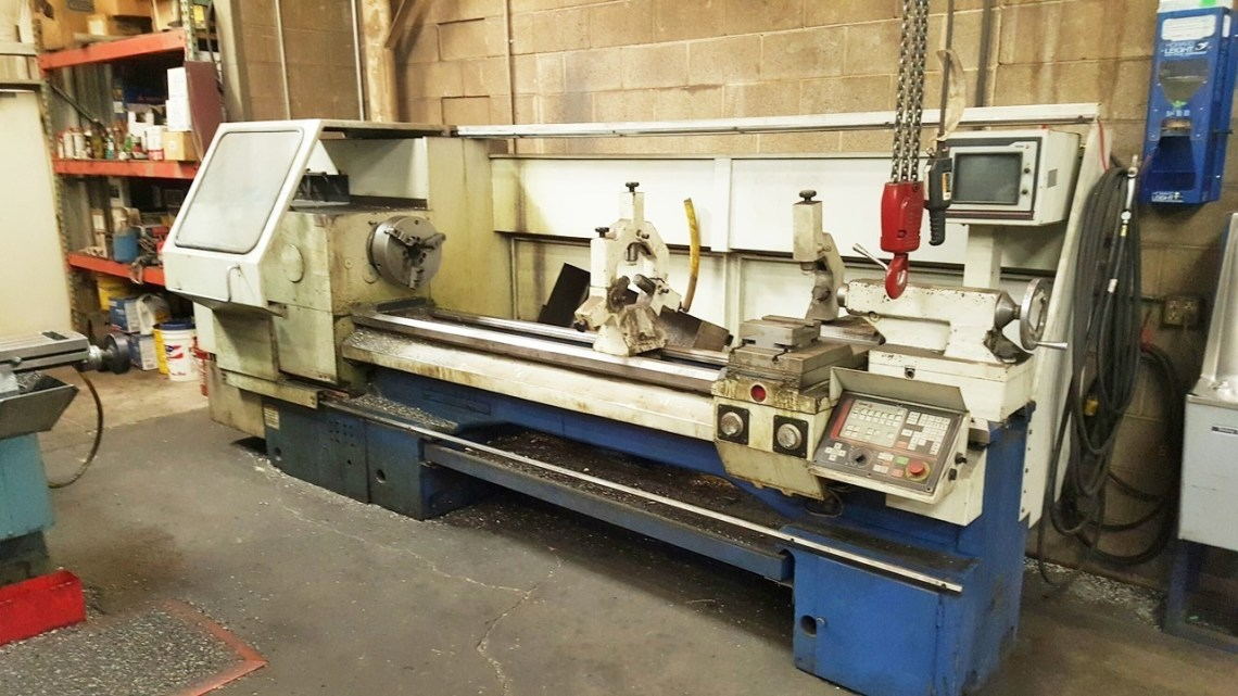 "1 – USED 22"" X 80"" SUMMIT CNC & MANUAL LATHE C-5055"