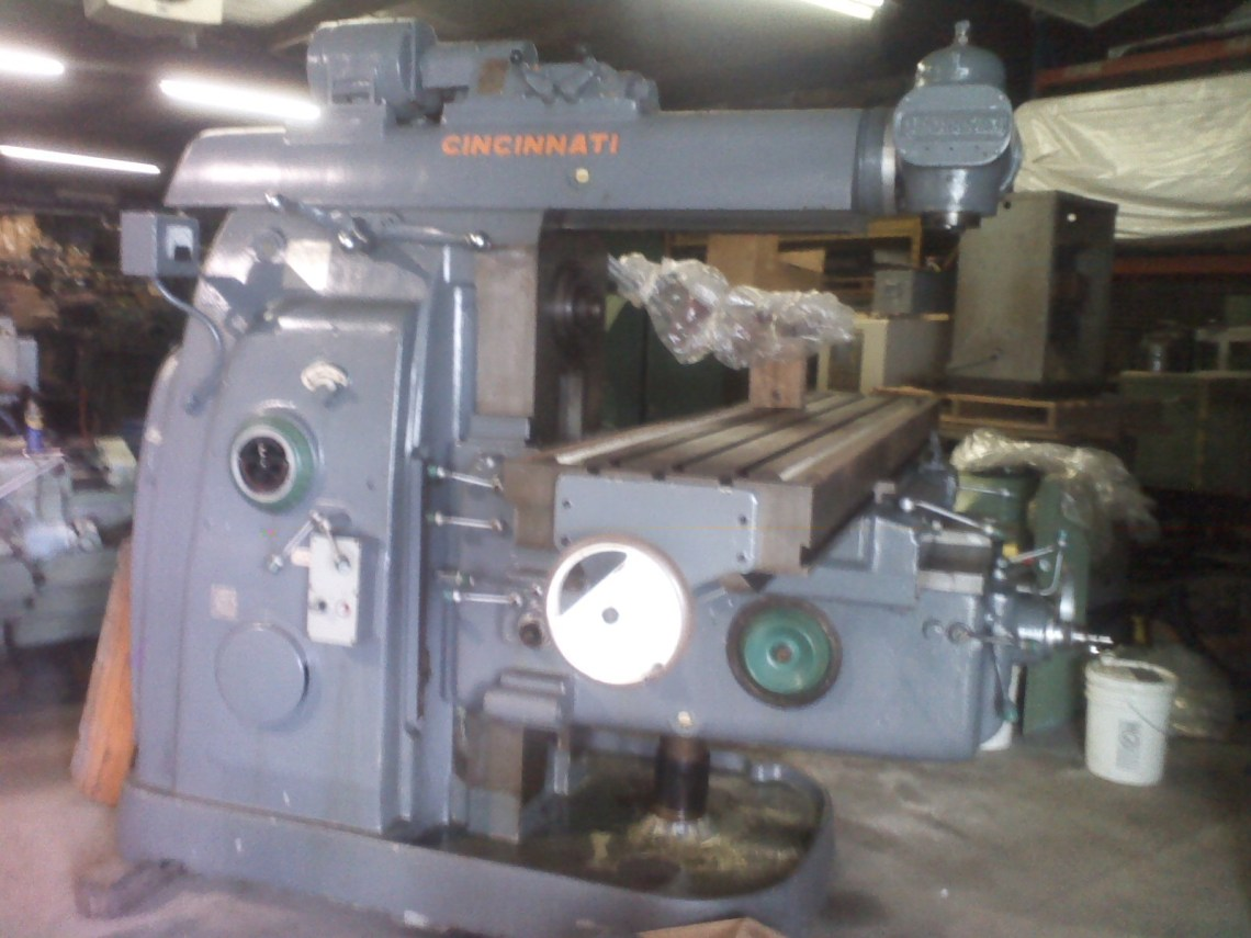 1 – USED MODEL #5 CINCINNATI COMBINATION HORIZONTAL/VERTICAL MILL WITH POWER OVERARM C-5057