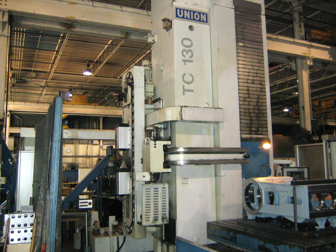 "1 – USED 5"" UNION CNC HORIZONTAL BORING MILL MODEL TC 130"