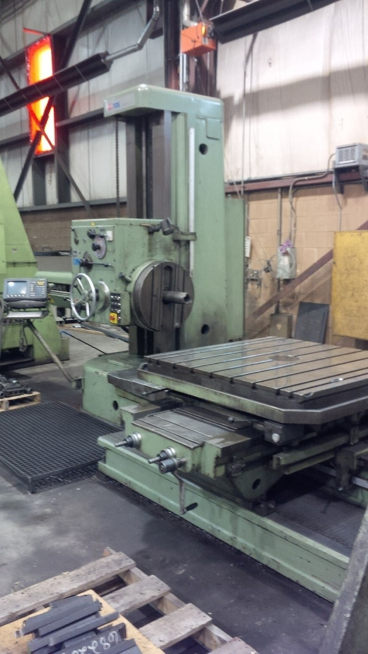 "​1 - USED 7"" INGERSOLL RAM/FLOOR TYPE CNC HORIZONTAL BORING MILL C-5128"