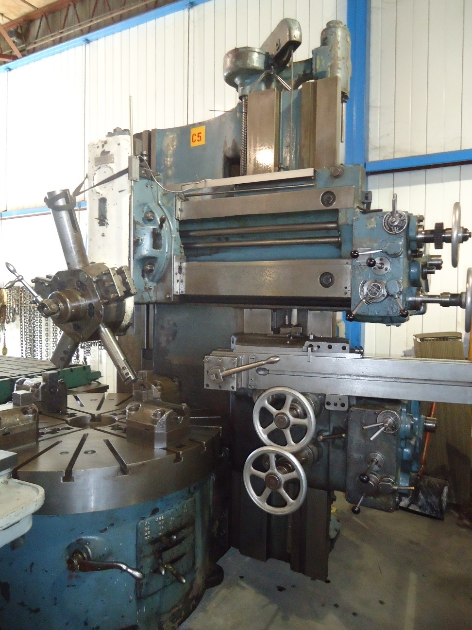 "1 – USED 63""/57"" SCHIESS VERTICAL TURRET LATHE 13 EK 150 C-5101"