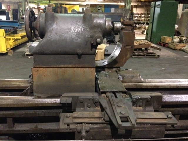 "1 – USED 51"" X 20' AMERICAN RAISED GEARED LATHE"