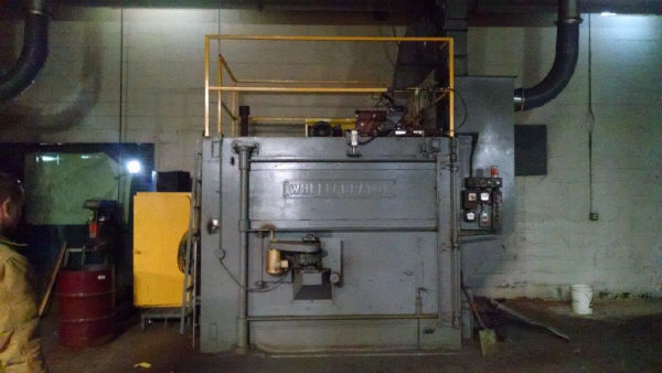 "1 – USED 66"" WHEELABRATOR SWING TABLE ABRASIVE CLEANING SYSTEM"