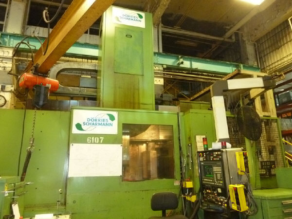 """1 – USED 49""""/63"""" DORRIES-SCHARMANN CNC VERTICAL BORING MILL WITH LIVE SPINDLE C-5153"""