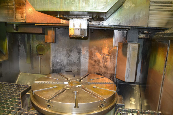"1 – USED 49""/63"" DORRIES-SCHARMANN CNC VERTICAL BORING MILL WITH LIVE SPINDLE"