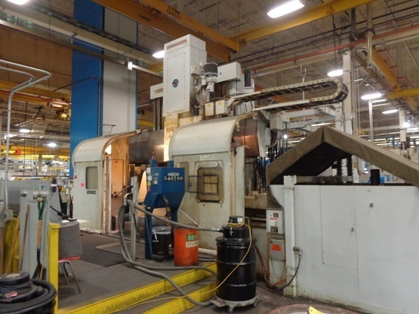 "1 – USED 84"" GIDDINGS & LEWIS CNC VERTICAL BORING MILL WITH LIVE MILL/DRILL SPINDLE C-5154"