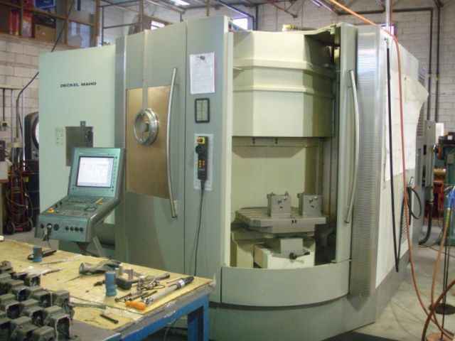 ​1 – USED DECKEL MAHO DMC 60T 5-AXIS TWIN PALLET CNC MACHINING CENTER