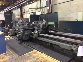 "1 – USED 48"" X 202"" AMERICAN 2-AXIS CNC HEAVY DUTY LATHE C-5168"