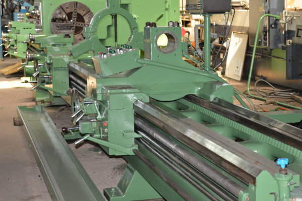 "1 – USED 32"" X 252/120"" (21'/10') LODGE & SHIPLEY ""SUPERTURN"" 3220w DUAL SIDE HOLLOW SPINDLE ENGINE/BORING LATHE C-3895"