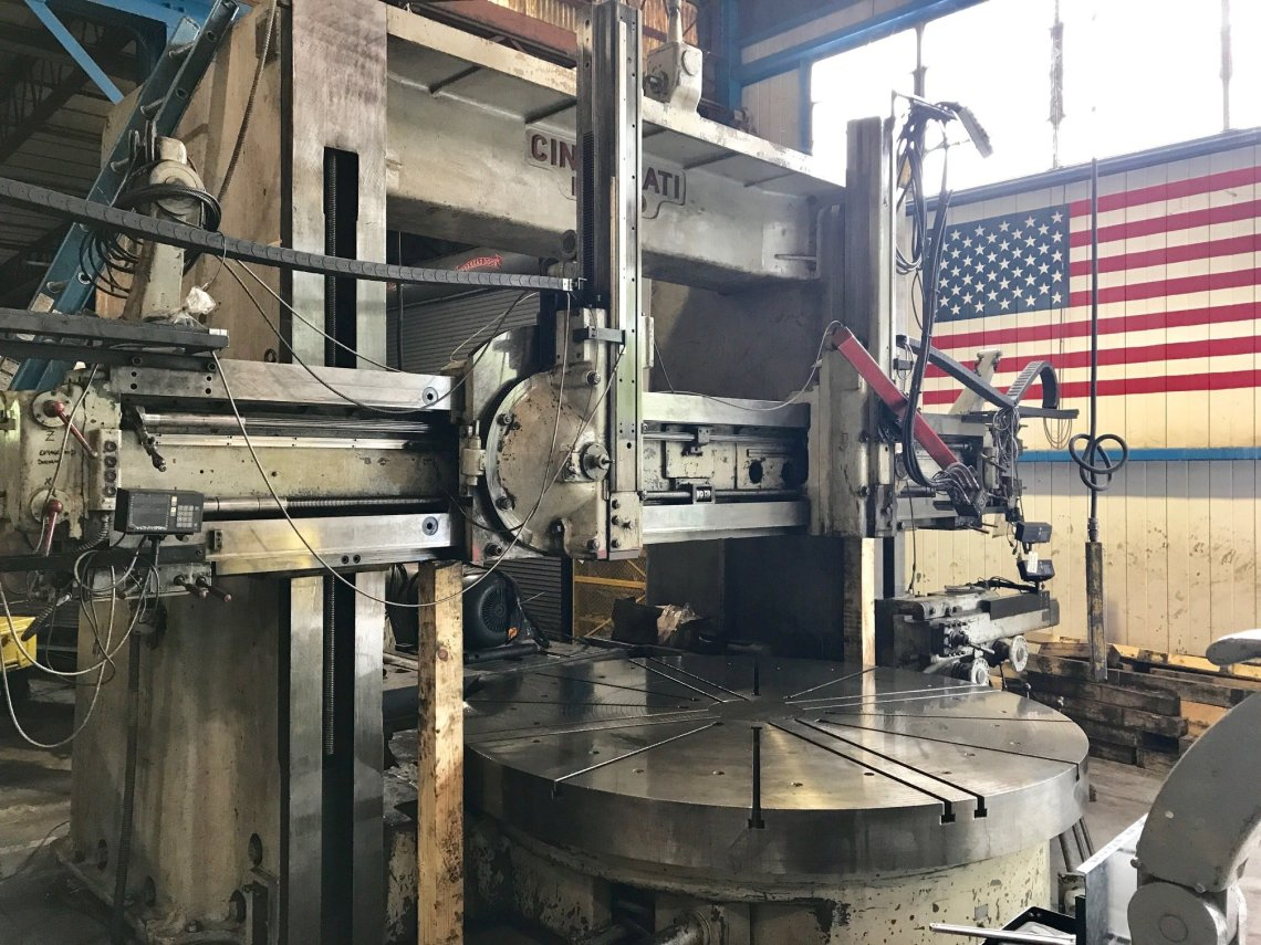 "1 – USED 144"" CINCINNATI HYPRO VERTICAL BORING MILL"