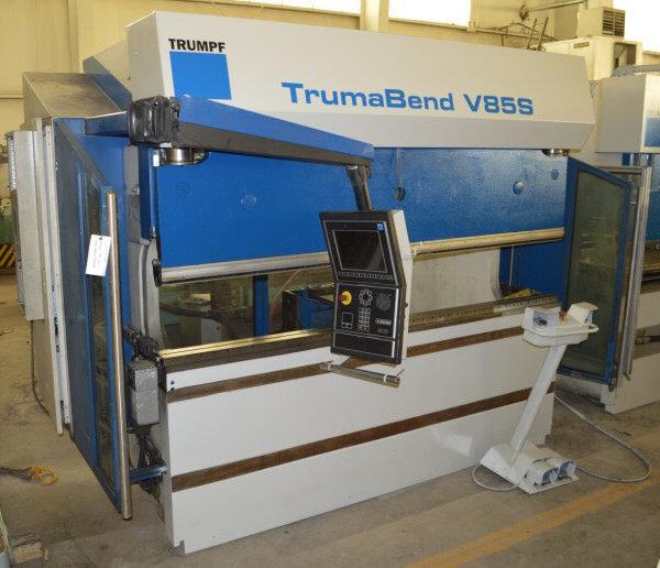 "1 – USED 93.67 TON TRUMPF ""TRUMABEND V85S"" 6-AXIS CNC HYDRAULIC PRESS BRAKE C-5266"