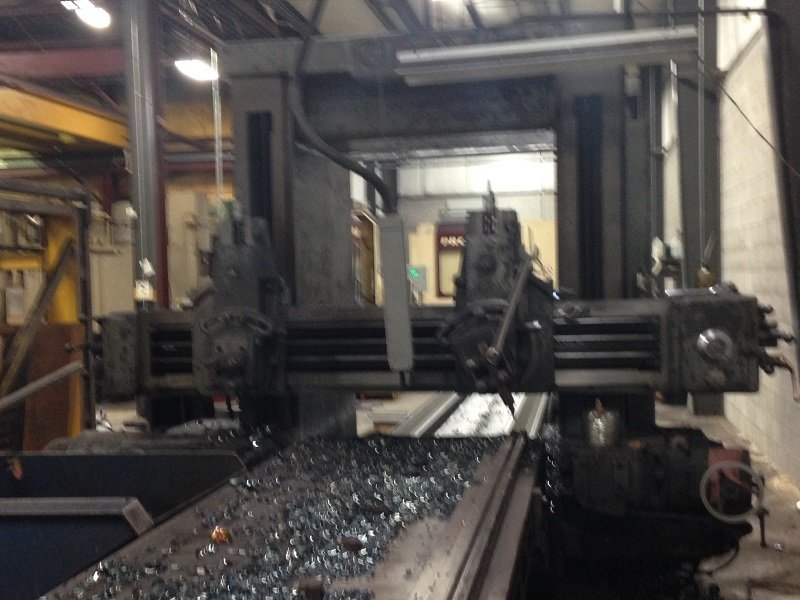 """1 – USED 48"""" X 32' GRAY DOUBLE HOUSING PLANER"""