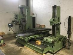 "1 – USED 4"" TOS W100A MANUAL HORIZONTAL BORING MILL"