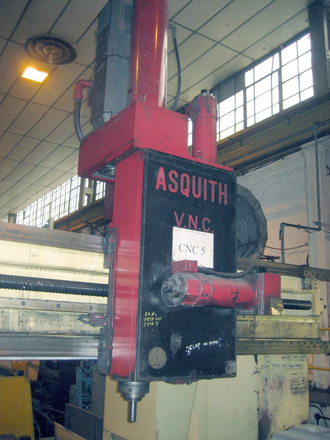 "1 – USED 92"" X 134"" ASQUITH CNC GANTRY TYPE VMC"