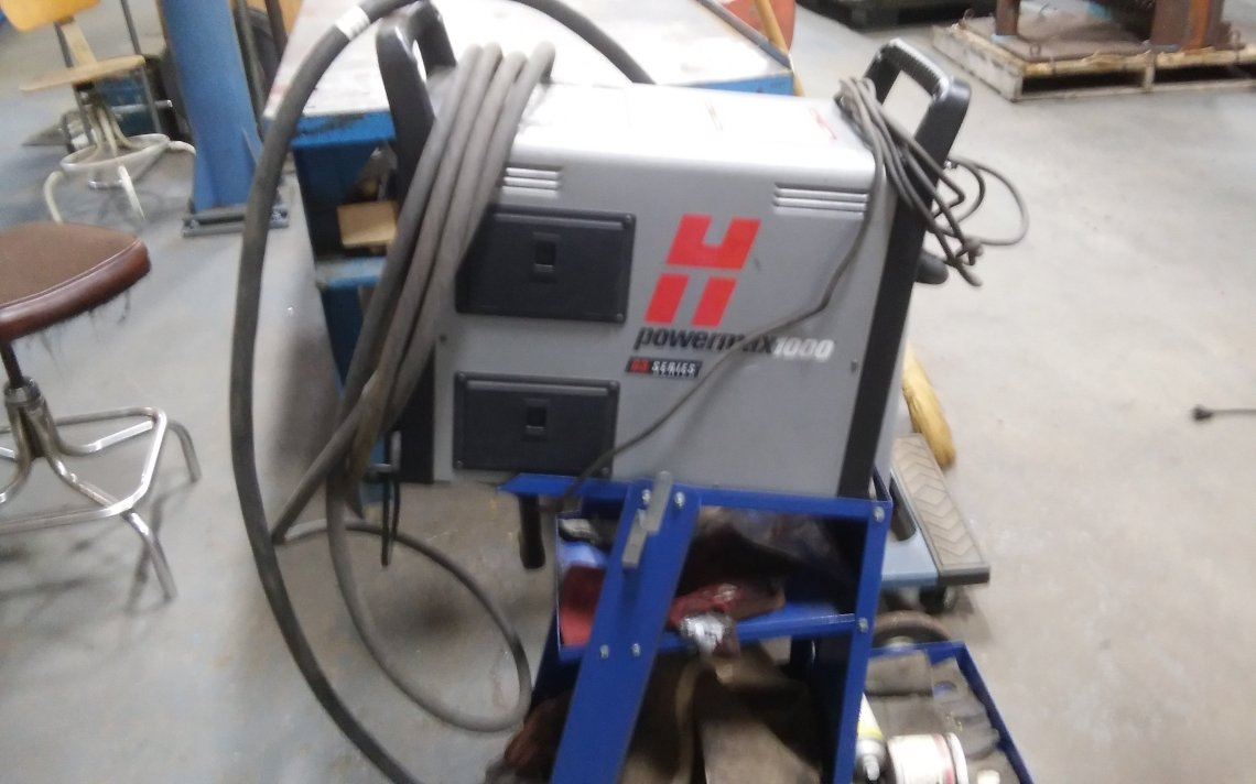 1 – USED HYPERTHERM POWERMAX 1000 G3 SERIES PLASMA CUTTER C-5216