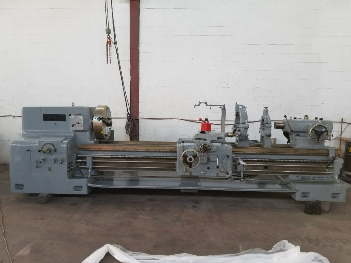 "1 – USED 30"" X 120"" AMERICAN HD ENGINE LATHE C-5380"