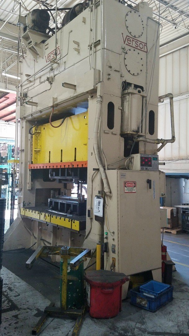 1 – USED 250 TON VERSON STRAIGHT SIDE PRESS