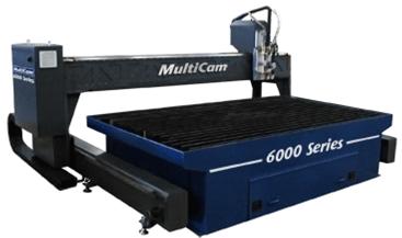 1 – USED 10' X 12' (32)' MULTICAM 6000 SERIES CNC PLASMA C-5440