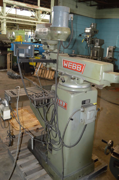 "​1 – USED #3VH WEBB ""CHAMP"" VARIABLE-SPEED VERTICAL MILL"
