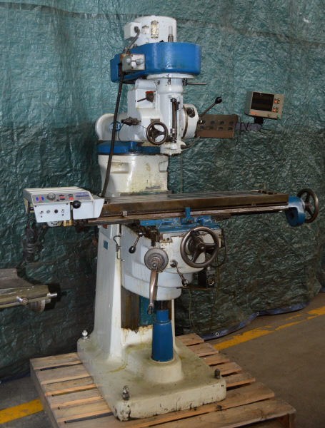 ​1 – USED #645 INDEX VERTICAL MILL WITH DIGITAL READOUTS C-5573