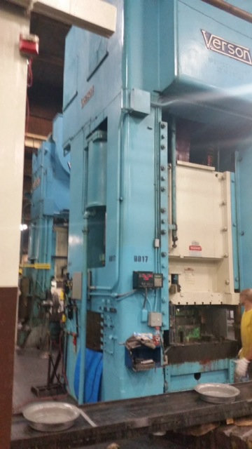 1 – USED 1,500 TON VERSON SINGLE POINT PUNCH PRESS