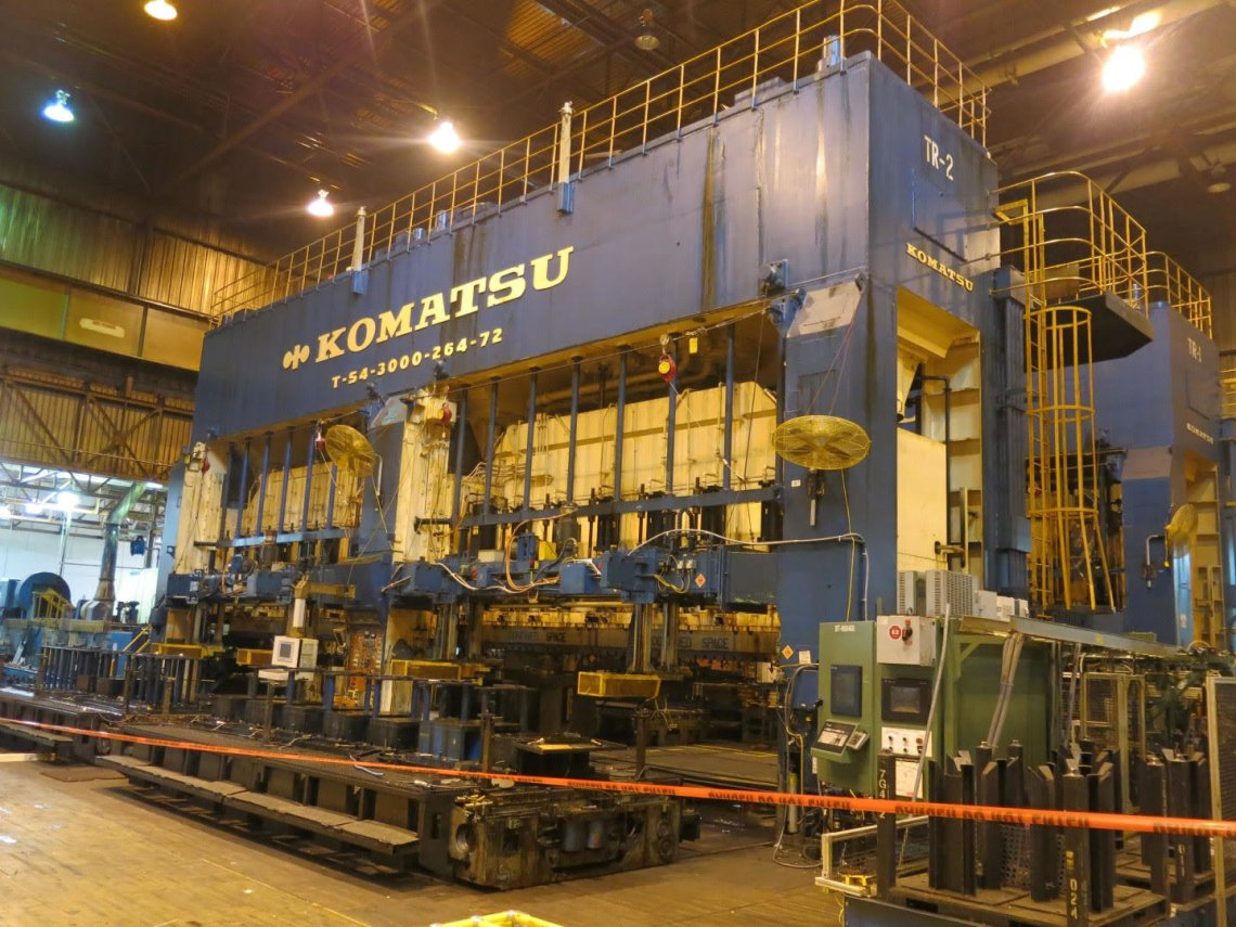 ​1 – USED 3,000 TON KOMATSU TRANSFER PRESS C-5166