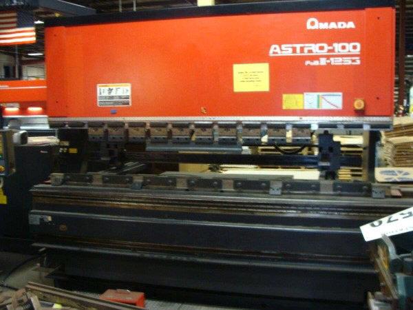 1 – USED 138 TON AMADA CNC UP-ACTING HYDRAULIC PRESS BRAKE C-5577