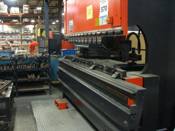 1 – USED 138 TON AMADA CNC UP-ACTING HYDRAULIC PRESS BRAKE