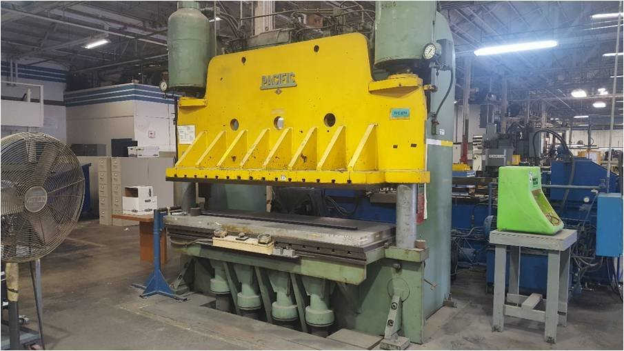 ​1 – USED 1,000 TON PACIFIC PRESS BRAKE TYPE PRESS C-5621