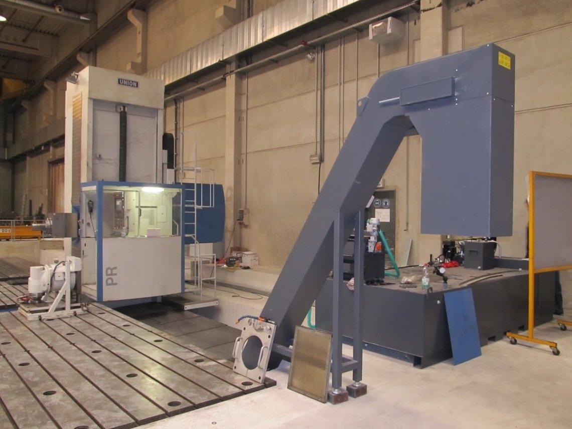 1 – USED UNION CNC HORIZONTAL FLOOR TYPE BORER, MODEL PR 160 C-5535