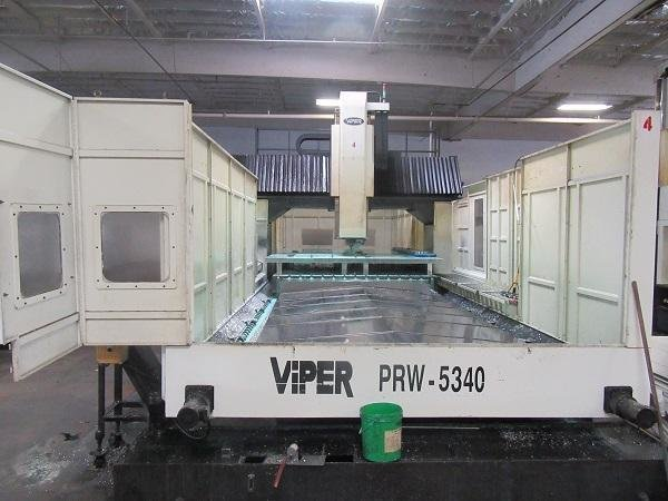 "1 – USED 200"" X 134"" MIGHTY VIPER MODEL PRW-5340 CNC BRIDGE MILL C-5609"