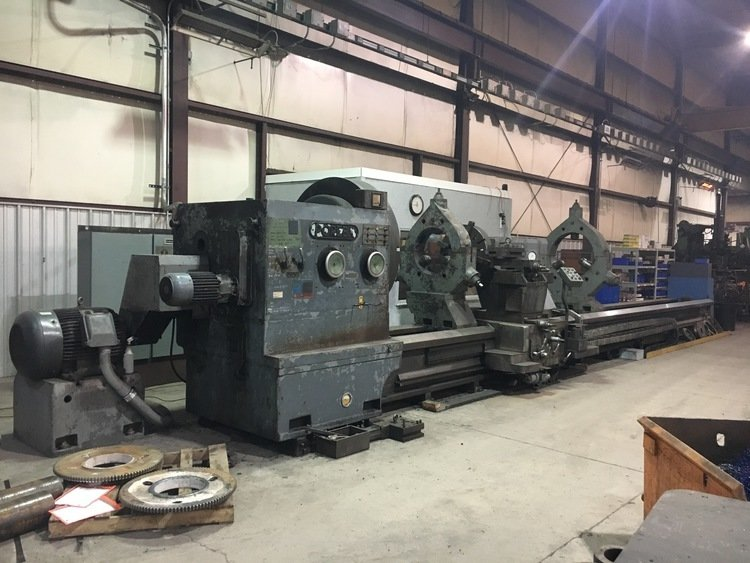 "​1 – USED 78"" X 33' CC POREBA HD ENGINE LATHE"