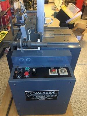 1 – USED MALAHIDE MODEL E2-NB HOT STAMPING MACHINE