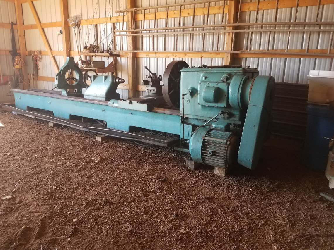 "1 – USED 36"" X 178"" POREBA HEAVY DUTY ECGINE LATHE C-5639"