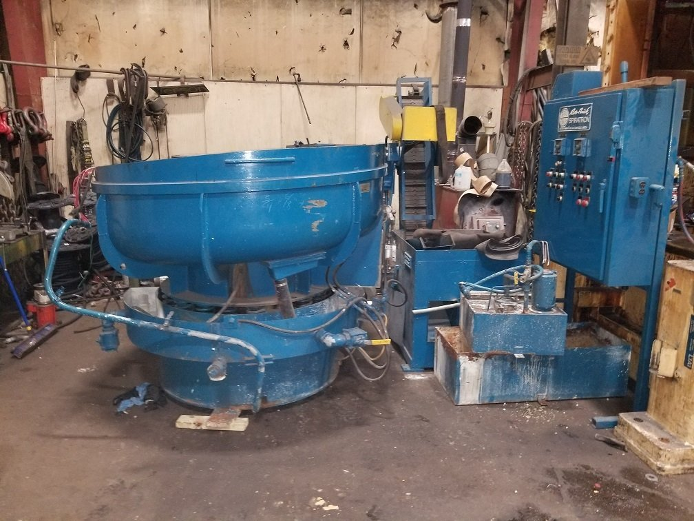 ​​1 – USED 8 CUBIC FEET ROTO-FINISH SPIRATION VIBRATORY TUB C-5650