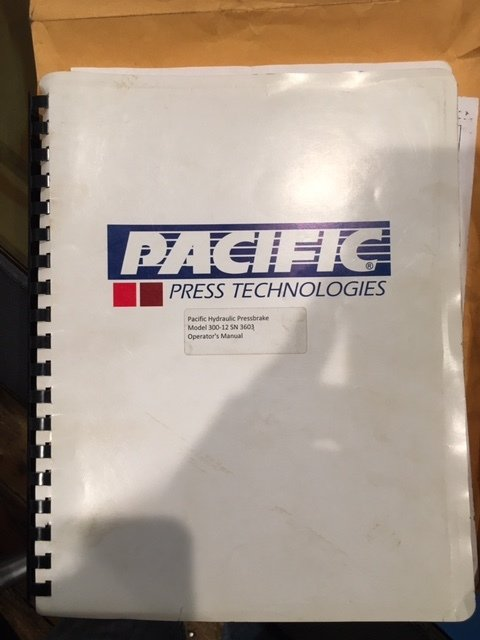 1 – USED 300 TON X 12' PACIFIC HYDRAULIC PRESS BRAKE