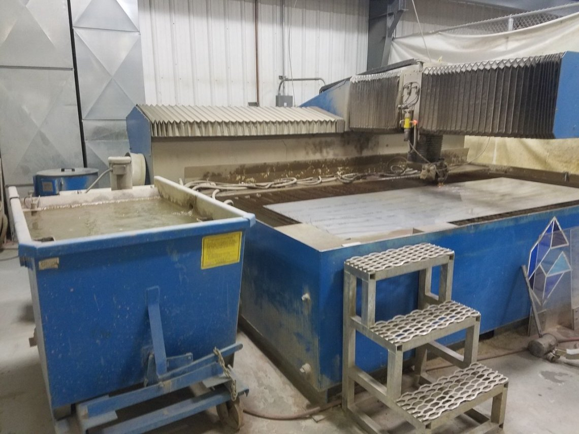 "1 – USED 6' 5"" X 13' FLOW WATERJET CUTTING SYSTEM"