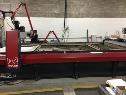 "​1 – USED 6' 7"" X 13' 10"" OMAX JET MACHINING CENTER C-5674"