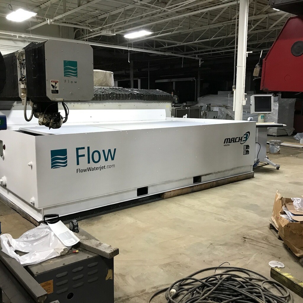 ​1 – USED 6.5' X 13' FLOW CNC WATERJET CUTTING SYSTEM C-5675