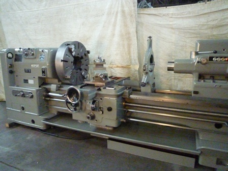 "​1 – USED 32 ½"" X 43"" X 20"" X 72"" WEIPERT 630e MANUAL GAP BED BIG BORE LATHE C-5683"