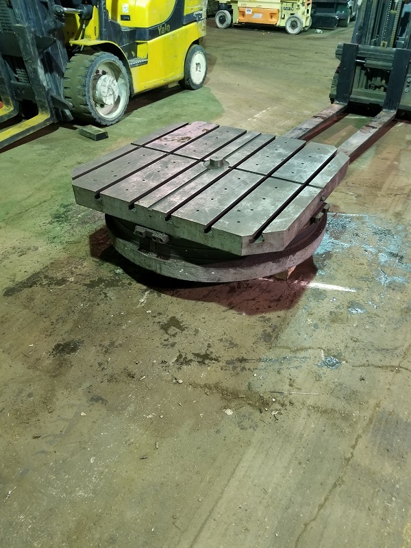 """1 – USED 50"""" X 50"""" G&L AIR LIFT ROTARY TABLE C-5685"""