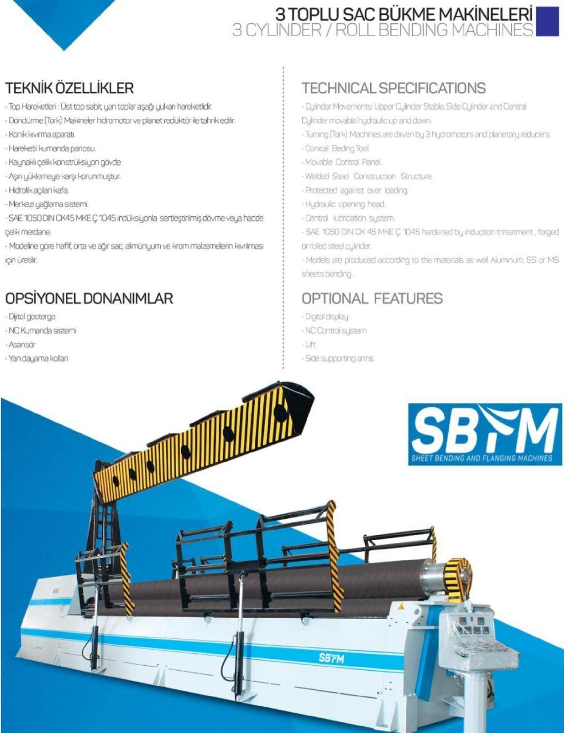 1 – NEW 3R SBS 3090 HYDRAULIC BENDING ROLL