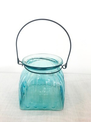 Blue Glass Lanterns