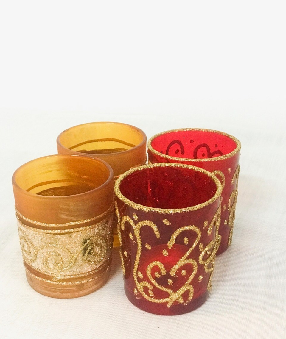 Decorative Glass Votives (variety)