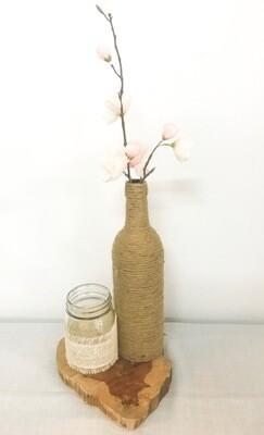 Twine Wrapped Wine Bottle 12