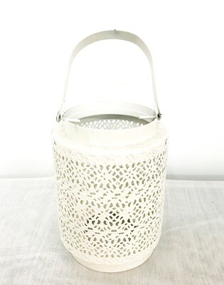 White with Pattern Lantern