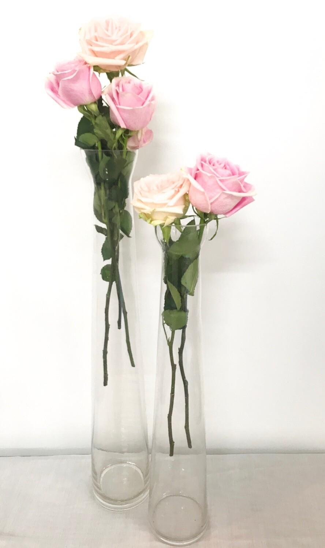 Tall Narrow Glass Vase 20