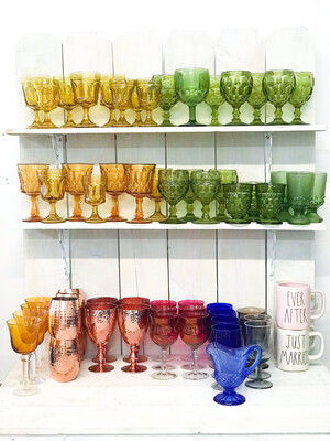 Antique Colored Glassware